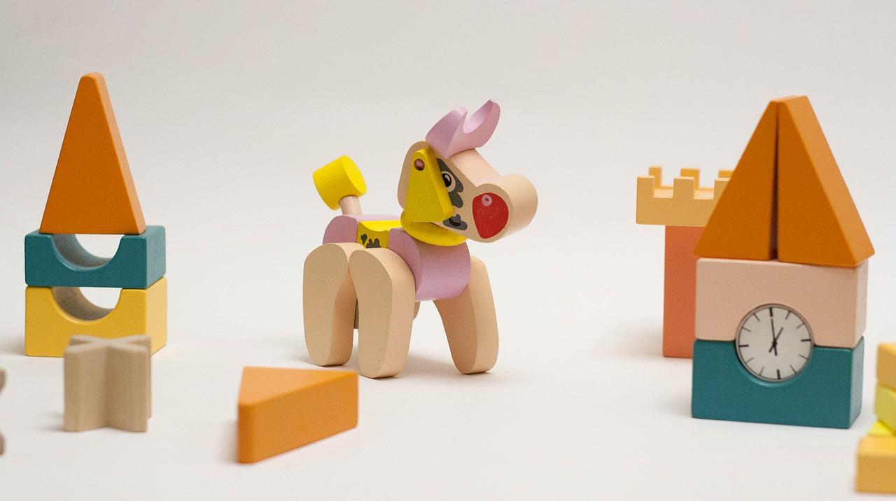 Holzspielzeug Bauklötze kleines Sortiment
